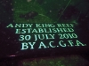 Andy King Reef Plaque